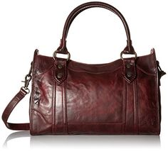 FRYE Melissa Satchel Handbag, Wine, One Size