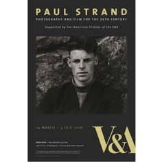 Paul Strand Exhibition Poster