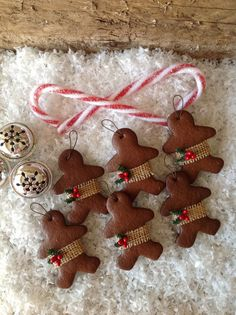 Set of 6 Gingerbread Cookie Christmas