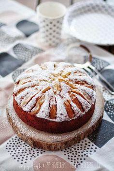 weiße Schokolade + Apfel = Kuchen