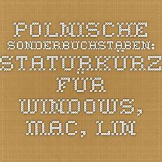 Polnische Sonderbuchstaben: Tastaturkürzel für Windows, Mac, Linux und LaTeX