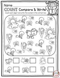 May in Kindergarten – FREEBIES COUNT and COMPARE preschool pre-k and kindergarten math activities for spring – FREE printables and ideas Kindergarten Math Activities, Free Kindergarten Worksheets, Preschool Kindergarten, Math Math, Reading Worksheets, Math For Kids, Teen Numbers, Ordering Numbers, Free Teen