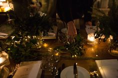 Creating a festive tablescape with seasonal greenery (real and faux)
