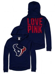 Slouchy Bling Hoodie - Victoria s Secret PINK - Victoria s Secret Texans  Game edb4fdf53