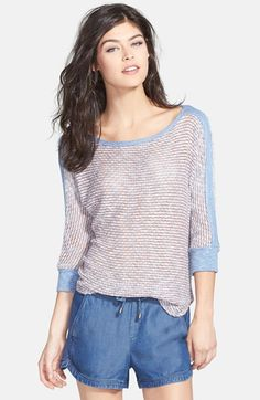 Splendid 'Zulu' Mélange Knit Pullover available at #Nordstrom