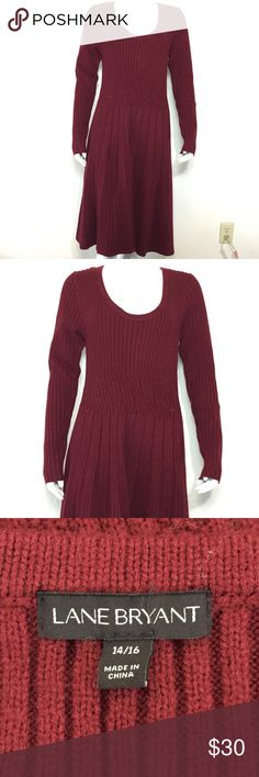 Lane Bryant sweater dress Long sleeve sweater dress in excellent condition Lane Bryant Dresses