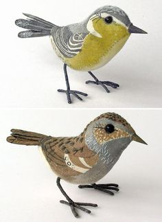 Love these hand-stitched and hand-painted birds by UK artist Emily Sutton...