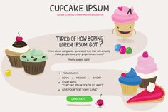 Cupcake Ipsum | 14 Websites To Help You Survive College