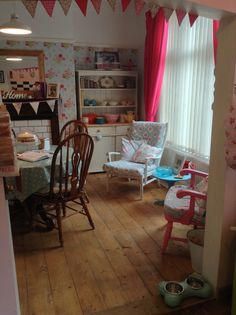 50s vintage inspired dining room x