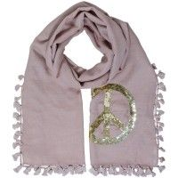 cute stuff, Schal Unity No.2 Peace, taupe gold
