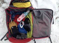 The North FaceIce Project Backpack - 2746cu  - the perfect ice-climbing gear with well thought out design features