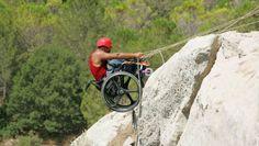 Disabled rock climbing