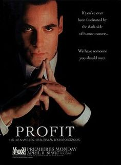 Considered by many to be ahead of its time,  Profit is an American television series originally aired on the Fox Broadcasting Co. in 1996. reated by David Greenwalt and John McNamara, stars Adrian Pasdar as the eponymous character Jim Profit. Subversive themes stemming from the amoral actions of the central character made the show uncomfortable and unfamiliar viewing for mainstream audiences and Fox network affiliates, which ultimately led to the demise of the series.