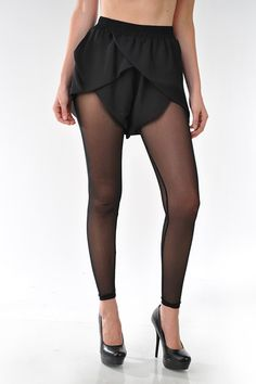 by RehabBlackOverlap ShortsFootless Stockings attached underneath100% Polyester