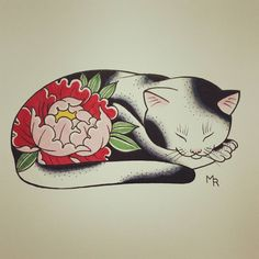 My father has always been a cat person so I made him a monmon cat for his birthd… Cat tattoo – Fashion Tattoos Japanese Tattoo Symbols, Japanese Tattoo Art, Japanese Tattoo Designs, Japanese Cat, Japanese Sleeve, Cute Tattoos, Body Art Tattoos, Sleeve Tattoos, Lucky Cat Tattoo