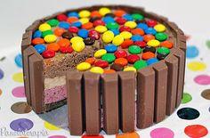 PANELATERAPIA - Blog de Culinária, Gastronomia e Receitas: Bolo KitKat com Sorvete