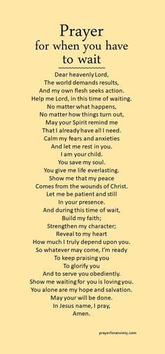 Waiting might be the hardest thing to do. Seek Jesus during this time, and his Spirit will mold your heart. Remember, God is always present and in control. Trust in his timing and his will.