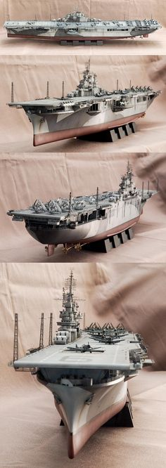 USS Essex CV9. Model by Goh Soo Loon.