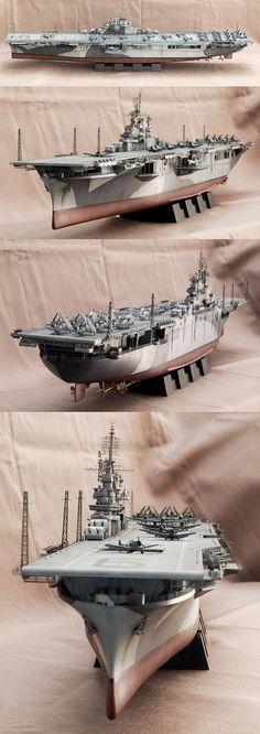 USS Essex CV9. Model by Goh Soo Loon.