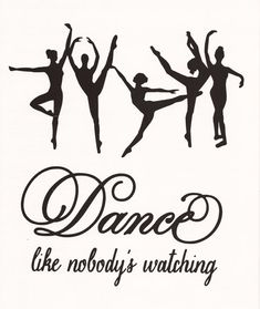 Dance Wall Decal Girls Room Dance Like Nobody's by SpecialCuts, $12.00
