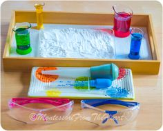 🎨Painting with 🌈Colored Vinegar on Baking Soda Science Experiment 🔬 💡⚖️ 101 🎥 Series 🎇