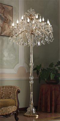 Italian crystal floor lamp