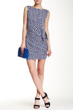 Check Dot New Dellla Faux Wrap Dress