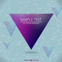 Vector triangle design background image