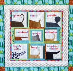 "Dog Show, 2011, 37""x36"", quilt by Karen Duling."