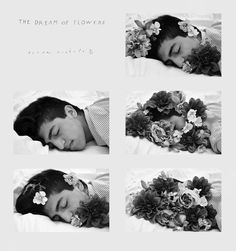"Haley Harper - The Dream of Flowers  This version of my Duane Michals emulation series looks more like his work. The reason I decided to create my own version of his series was for my electronic multimedia class' photo project where we chose an artist and emulate them. I used the same color Michals uses in his photos as the background and also used his handwriting of ""The Dream of Flowers"" and his name to further emulate this series. You can see the original color version ..."