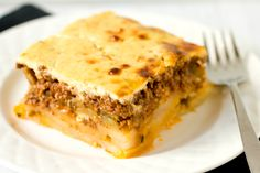 Moussaka..when I first tried this dish it was in a restaurant by Tony, a greek. This dish was absolutely wonderful. He later married a relative of mine. Oh, I ate moussaka many times afterwards. This dish is absolutely great. mag