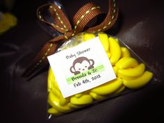 Monkey babyshower favor (made by my sis)