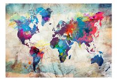 DIY Diamond Embroidery Mosaic Landscape World Map Art Kits Home Decoration with Full Square Diamond Kit Impression Grand Format, World Map Art, Mosaic Pictures, Step By Step Painting, 5d Diamond Painting, Diy Frame, Frame It, Painting Frames, Cross Stitch Embroidery