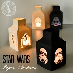 Star Wars Lanternes: Faire ce métier simple Star Wars avec du papier, de la colle et de papier parchemin!