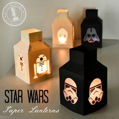 Star Wars Lanternes: Faire ce métier simple Star Wars avec du papier, de la colle et de papier parchemin!