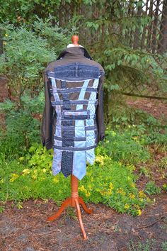 Crazy jacket decorated recycled and up cycled jacket hippie
