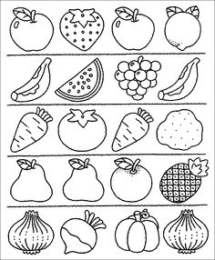Z internetu - Sisa Stipa - Picasa Web Albums Coloring Worksheets For Kindergarten, Kindergarten Colors, Preschool Coloring Pages, Printable Preschool Worksheets, Free Preschool, Worksheets For Kids, Preschool Activities, Fruit Coloring Pages, Fruits Drawing