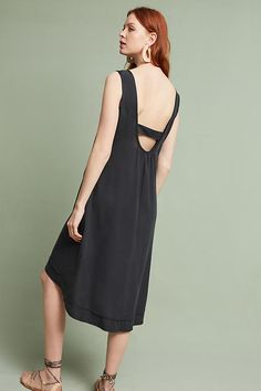 Slide View: 3: Caprice Open-Back Dress