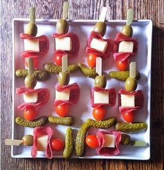 Antipasto Skewers for bloody mary bars from Family Bites