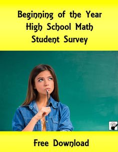 Beginning of the Year High School Math Student Survey