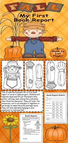 Your children will love to welcome fall with this fun to make scarecrow book report.