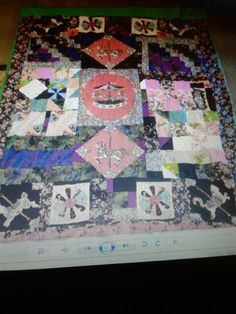 Re did top of quilt, the back was intact, to many memories to throw away.