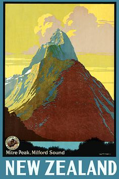 Vintage New Zealand Travel Posters Prints