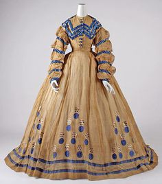 The Metropolitan Museum Dress Date: ca. 1865 Culture: American Medium: cotton