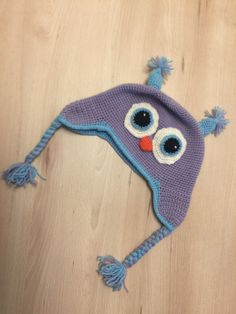 Uhu Mütze gehäkelt Crochet Hats, Knitting Hats