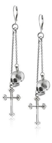 King Baby Skull and Traditional Cross Drops Leverback Earrings King Baby,http://www.amazon.com/dp/B009VYQ03C/ref=cm_sw_r_pi_dp_9TQ.sb018CNZJ8DR