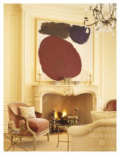 Living room fireplace. Photographer: Matthew Millman