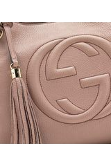 Gucci Soho Medium Light Pink Leather Tote with Chain Straps in Pink - Lyst