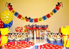 This woman posted all of the pictures from her sons Mickey Mouse Clubhouse themed 1st birthday, and it is the cutest thing ever! She had the best ideas! Definitely stealing a few!
