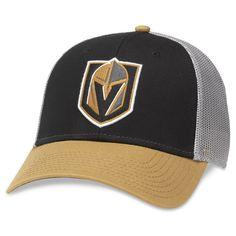 67020cb64f9 Vegas Golden Knights American Needle Roughage Trucker Adjustable Hat –  Black Gold